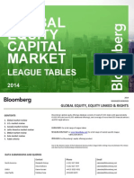 2014 League Tables Global Equity Capital Market