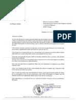 Courrier de Guillaume Guérin au préfet (partie 1)
