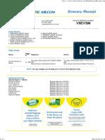 Plane Ticket Sample