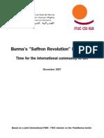 "Burma's ""Saffron Revolution"" is not over, Dec 2007"