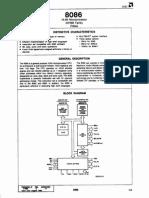 uP 8086 Hoja de Datos