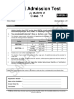 At 1516 Sample Paper Class 11 Paper 1