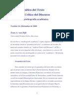 Van Dijk, Teun - De La Gramática Del Texto Al Análisis Del Discurso. Una Breve Autobiografía Académica. 2006