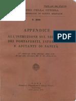 Appendice all'Istruzione sul servizio portaferiti infermieri e aiutanti di sanità (2690) 1941