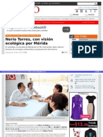 23-04-2015 Nerio Torres, con visión ecológica por Mérida