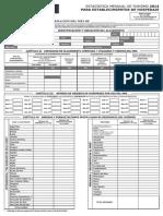 Cuestionario Mensual Hospedaje 2014