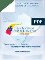 Plan Nacional Para El Buen Vivir 2009 2013