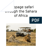 webpage safari through the sahara of africa