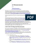 UE Reported Measurements