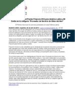 Premio  Polycom 2014 para América Latina y el Caribe 04-09-15