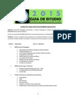 Curso en Linea Con PlataformaGuia 2015 Docentes en Servicio