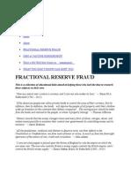 Fractional Reserve Fraud