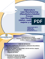 Proceso Lean Definir Medir Analizar Mejorar y Controlar- Javier Mejía NIeto