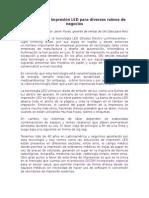 ART Tecnología LED de impresión para diversos rubros de negocios (F)