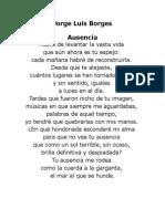 Jorge Luis Borges Ausencia