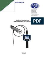 Endoskop Pce Ve 310 MANUAL