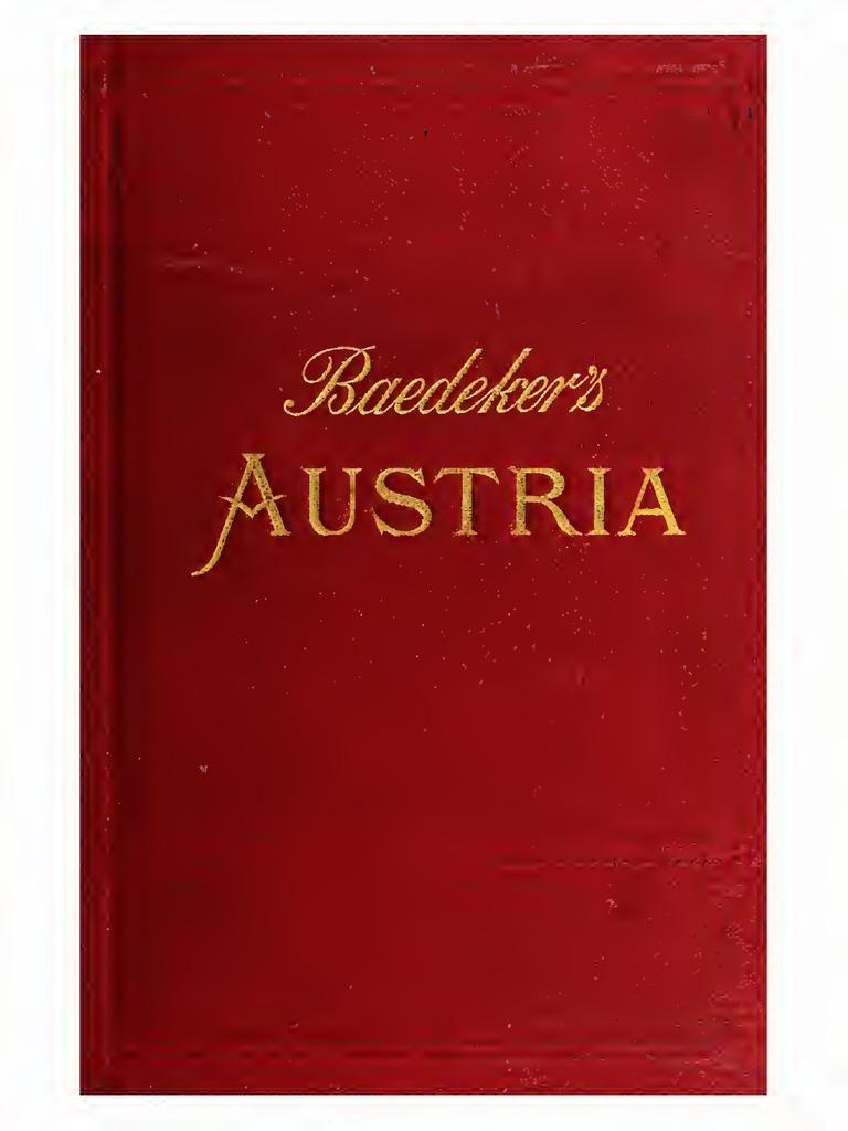 Austria Including Hungary, Transylvania, Dalmatia, And Bosnia Handbook for  Travellers (1896) - Karl Baedeker | Business