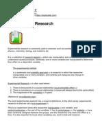 Explorable.com - Experimental Research - 2013-11-07
