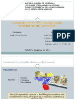 CONSTITUCIÓN Y LEY ORGÁNICA DE  SEGURIDAD DE LA NACIÓN.
