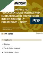 DNP-PINES Conpes 3762