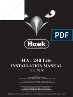 Hawk Ha240 Lite Installation Manual