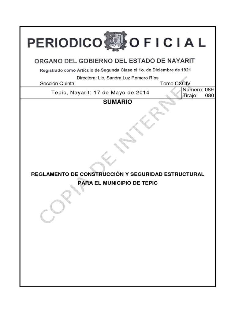 Reglamento de Construccion de Tepic