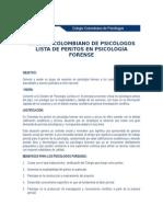 Listado Peritos Psicologia Forense