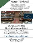 Brocante Breitfeldstrasse 39/41, 24.+25. April 2015
