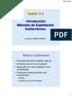 s 5 Introducción Metodos Exp - Subterranea
