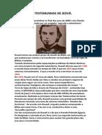 HISTORIA SECRETA TESTEMUNHAS DE JEOVÁ