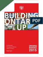 Ontario provincial budget 2015