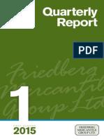 First Quarter 2015 - Quarterly Report