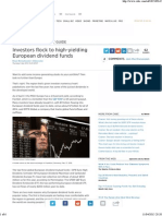 European Dividend Funds Become Investor Darling