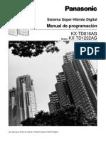 KX-TD1232 KX-TD816AG Manual de Programación