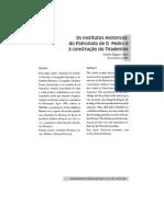 Os Institutos Históricos - Do Patronato de D. Pedro II à Construção Do Tiradentes (Callari)