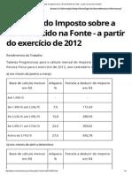 Alíquotas IR2012a2015