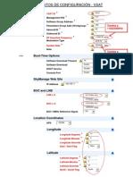 MODIFICACION - Datos de configuracion VSAT
