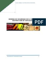 Normas de Seguridad en El Manejo de Explosivos y en La Destrucción de Explosivos