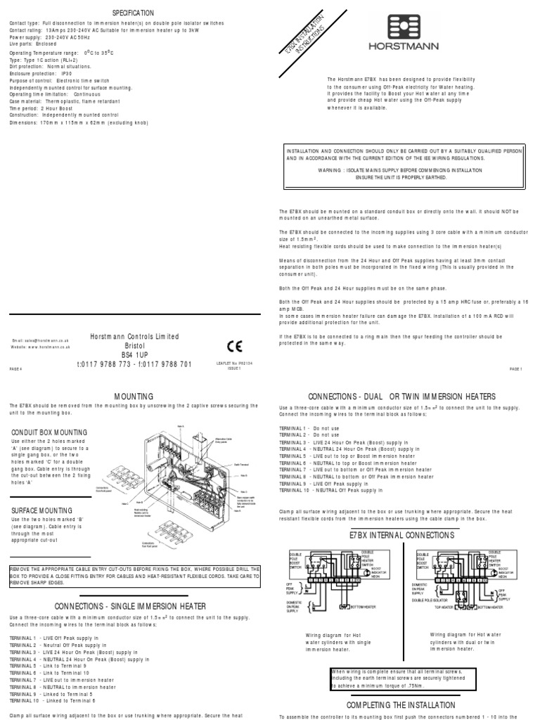 Tmp 17484 Installer Instructions E7bx2124458459 Electrical Wiring Surface Diagram Components