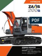 Hitachi Excavator ZX200-3G & ZX200-3G