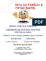 Panfleto Noite Do Pastel 2015