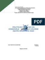Politicaspublicas de Venezuela Desdela Epoca Colonial Hasta Nuestros Dias Corregido de Jose Diaz