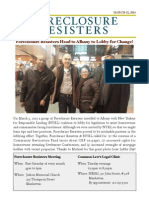 Foreclosure Resisters - 2015 03 Newsletter
