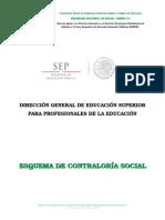 Esquema de Contraloría Social 2014