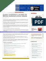 23-04-2015 Cuatro candidatos a alcaldía de Mérida sostienen primer debate .
