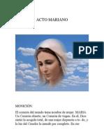 Acto Mariano...