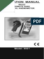Anemómetro DCFM8901