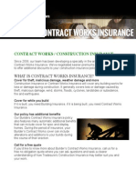 Contract Works Insurance