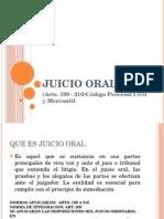 Diapositivas sobre el Juicio Oral Civil