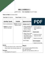 Formato Unidad de Aprendizaje 8vo Basico 6ta Unidad